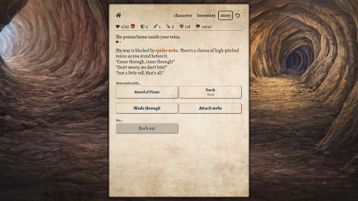 Path of Adventure - Text-based roguelike - screenshot