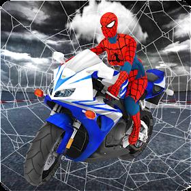 Spider Girl Stunt Rider Super Hero Highway Rider
