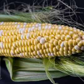 Sweetcorn by Helen Nickisson - Food & Drink Fruits & Vegetables ( sweetcorn, yellow corn, mealie, corn on the cob, maize )