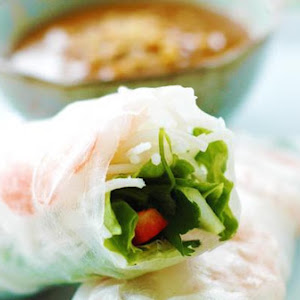 Vietnamese Spring Rolls With Hoisin Peanut Dipping Sauce