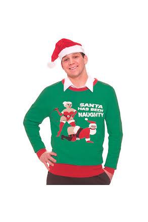Jultröja, naughty santa