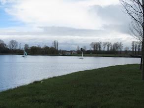 Photo: zeilen op de Schelde