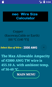 Download nec wire size calculator free apk latest version app for nec wire size calculator free poster greentooth Images