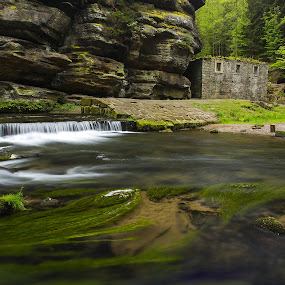Ruins of an old mill in the Czech Switzerland National Park by Petr Musil - Nature Up Close Water ( water, mill, old, national park, czech, switzerland, ruins, rock )