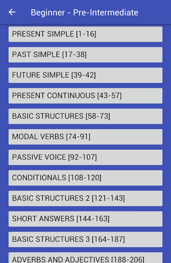 5555 English Grammar Tests- screenshot