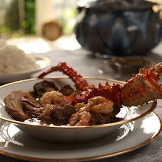 Clida Ellison's Louisiana Gumbo with Andouille, Chicken, Crab and Oysters.