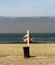 Photo: Formiddag ved Houstrup Strand mens havgusen forsvinder i horisonten