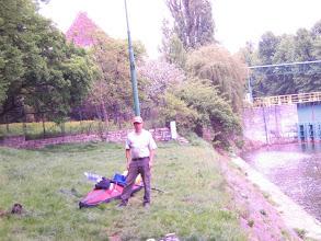 Photo: Start an der Schleuse Szczytniki, Folbot Cooper mit Skipper