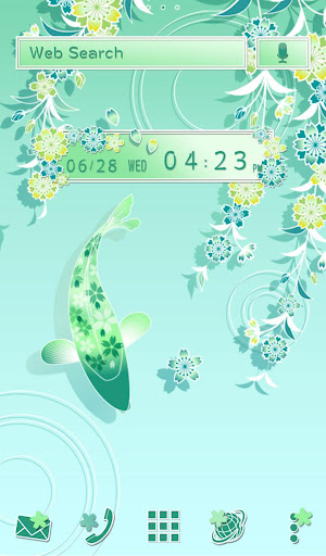 Cool Wallpaper Fish and Flowers Theme 1.0.1 Windows u7528 1