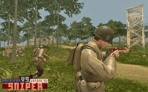 American vs Japanese Sniper - Hunter Survival FPS