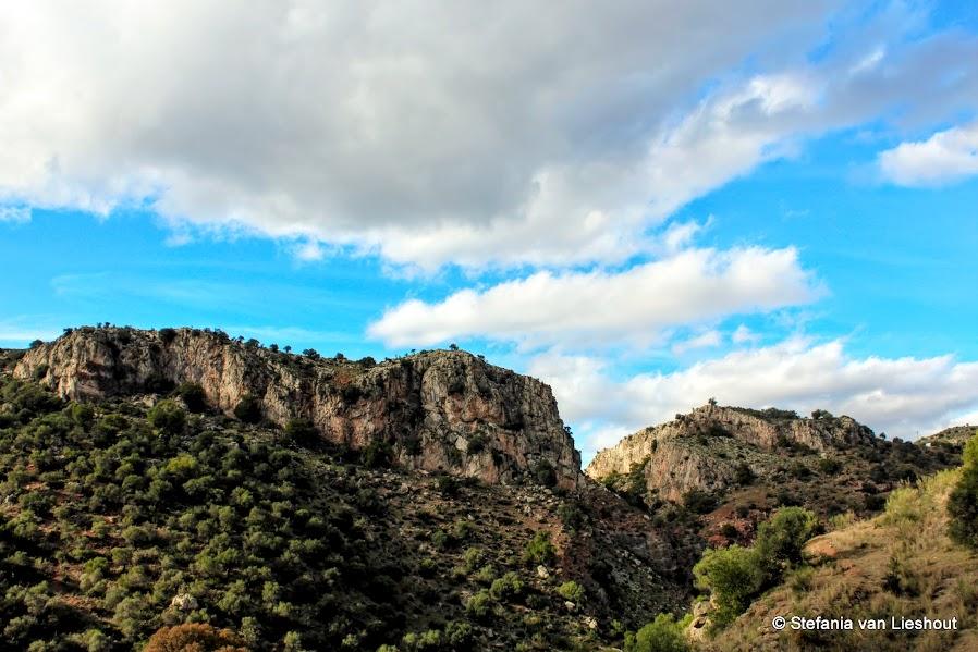 Rambla Almogia rotswanden