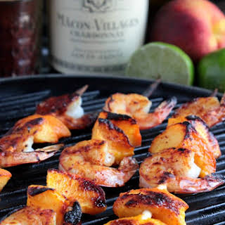 Grilled Shrimp and Peach Kabobs.