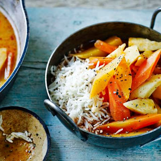 Root vegetable Thai curry.