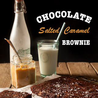 Chocolate Salted Caramel Brownies.