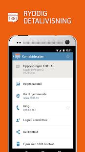 Opplysningen 1881 Mobilsøk- screenshot thumbnail