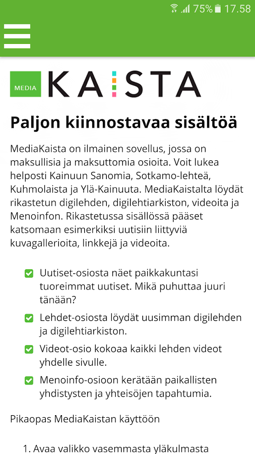 MediaKaista- screenshot