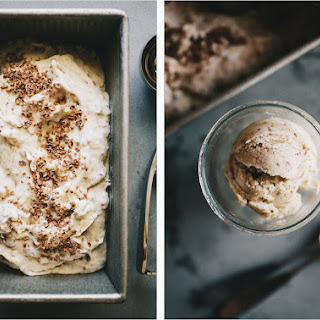 ROASTED BANANA COCONUT ICE CREAM.