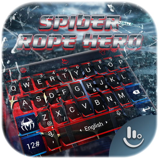 Spider Rope Hero Keyboard Theme