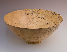 "Photo: Richard Webster - Bowl - 11"" x 6"" - Spalted Maple (Light)"