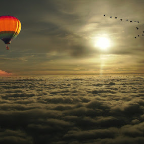 Above the clouds by Michel Lorente - Digital Art Places (  )