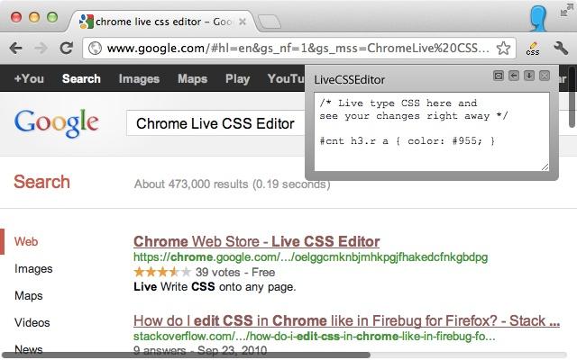 Live CSS Editor - Chrome Web Store