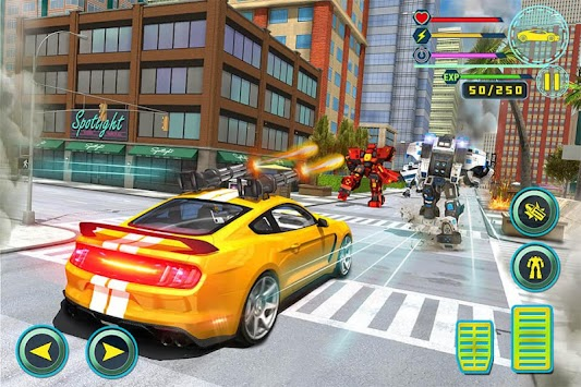 Futuristic Rhino Robot Car Transformation Game apk screenshot
