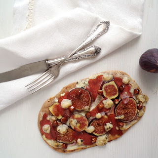 Fig Goat Cheese Hazelnut Flatbreads