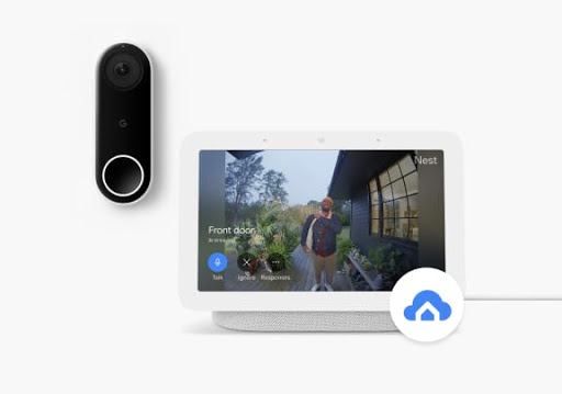 Nest Doorbell featured alongside Nest Hub 2nd Gen