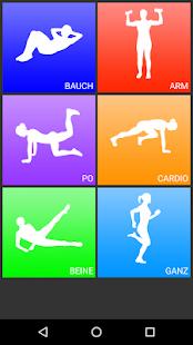 Tägliche Trainings - Fitness & Workouts Trainer Screenshot