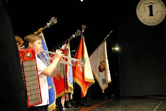 Photo: Część oficjalną rozpoczynamy od odśpiewania hymnu szkoły