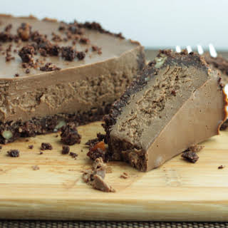 Low Carb CocoNutty Salted Chocolate Cheesecake.