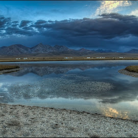 lake Son-Kul by Petr Klingr - Landscapes Waterscapes ( hdri, hdr, clouds, lake, water, mirrored reflections, landscape )