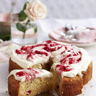 Coconut and Raspberry Cake.