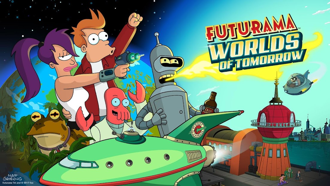 Futurama: Worlds of Tomorrow Android App Screenshot