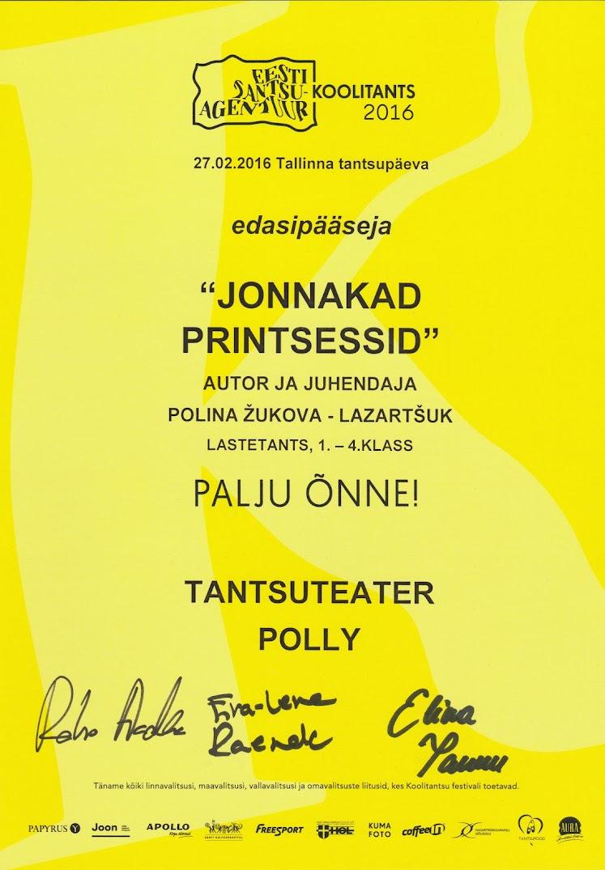 Koolitants2016 finalist Jannkad printsessid