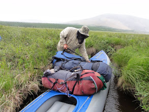 Photo: Из оз.Сортлор в следующее озеро лодку провели по протоке.