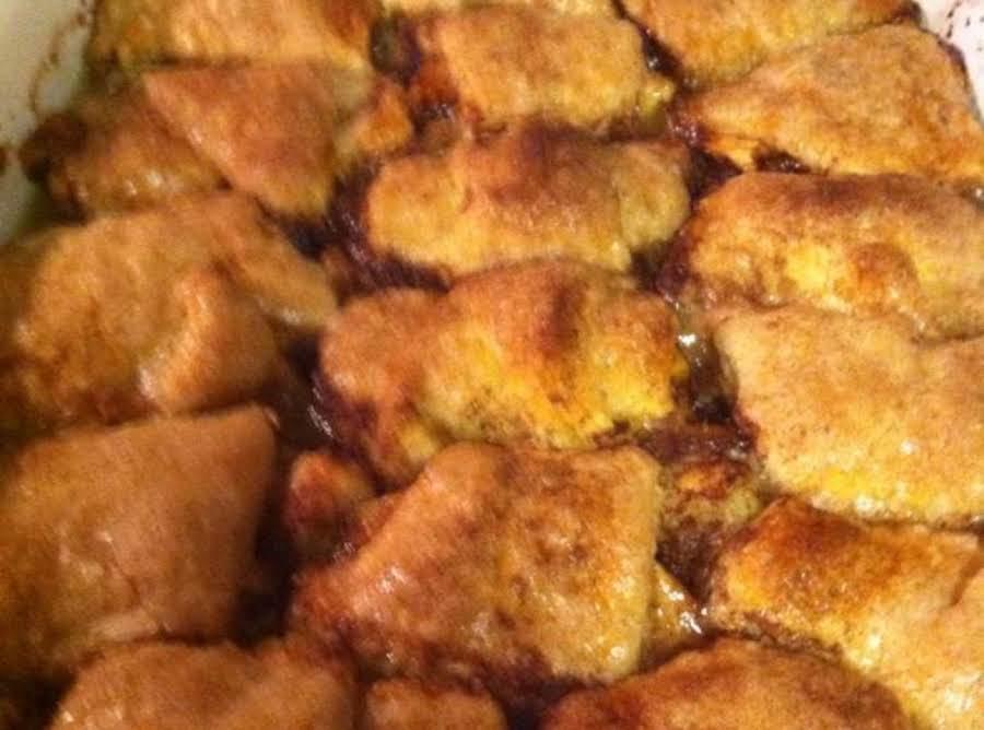Moe 39 s redd 39 s apple ale apple dumplings recipe just a pinch for Moe s fish and chicken