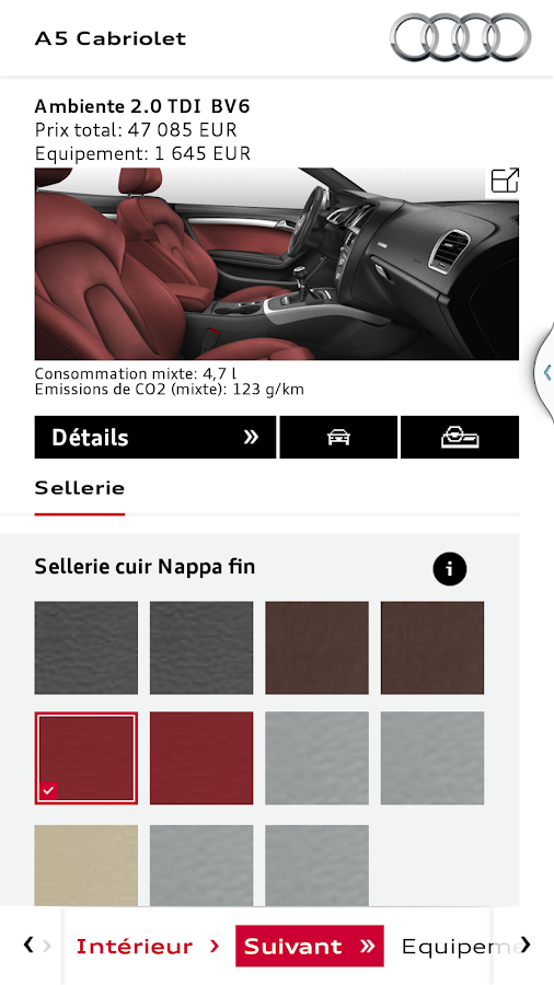 audi configurateur android apps on google play. Black Bedroom Furniture Sets. Home Design Ideas