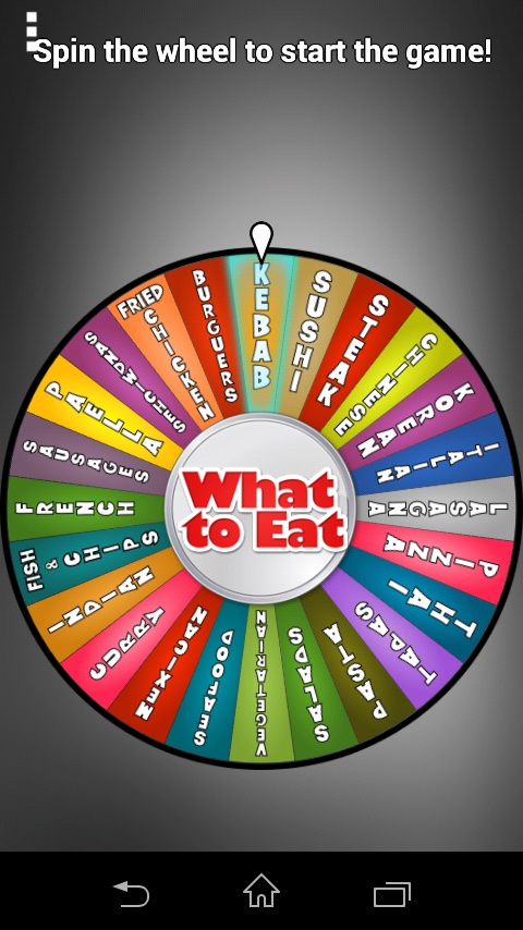 What to Eat- screenshot