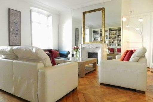 Living area at Latin Quarter apartment