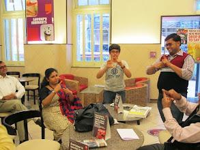Photo: Rabindranath, Smayan Sahni, Sandeep Kedia and Indira at CCD Kolkata during our 2012 World Disability Day Celebrations.
