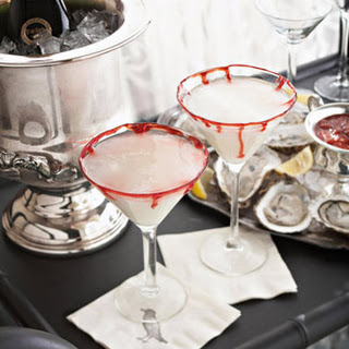 Bloody-Rimmed Martinis.