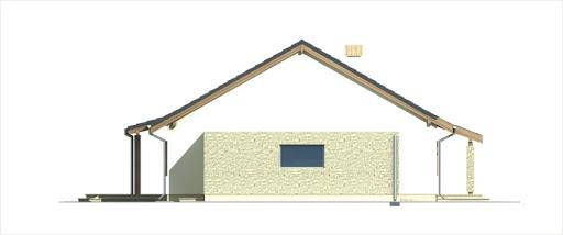 Antek II wersja B z pojedynczym garażem - Elewacja prawa