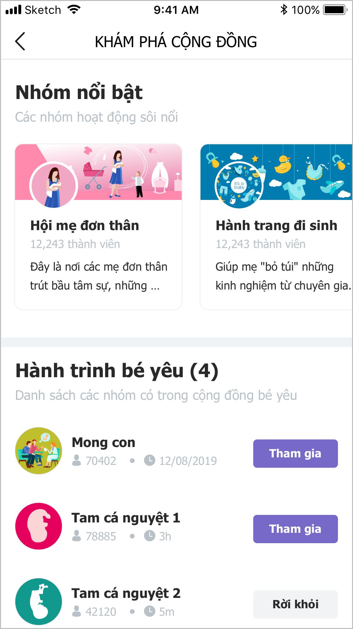 me-da-san-sang-trai-nghiem-tinh-nang-cong-dong-cua-be-yeu-chua
