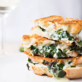 Gorgonzola With Spinach Grilled Cheese.