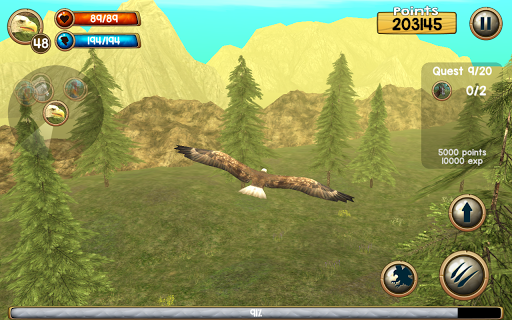 Wild Eagle Sim 3D apkpoly screenshots 13