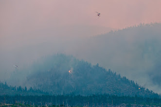 Photo: July 6, there is still plenty of smoke produced by patches of fire.