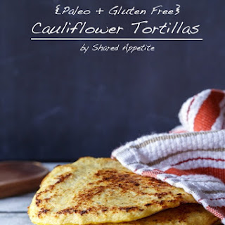 Paleo and Gluten-Free Cauliflower Tortillas.