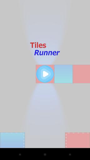 Tiles Runner - red blue war