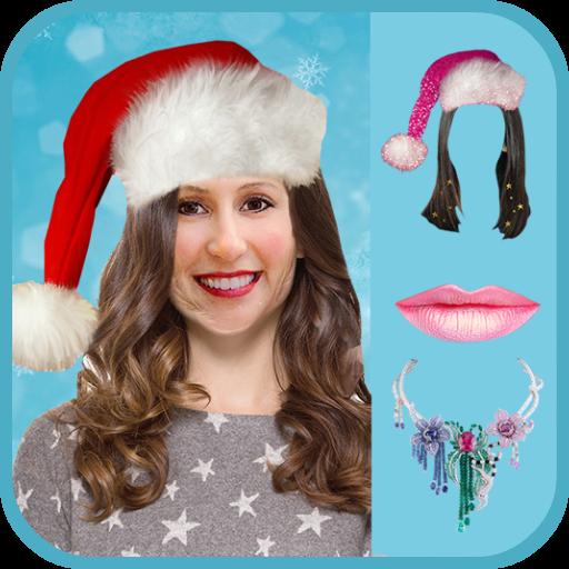 Christmas Girl Hair Changer Icon
